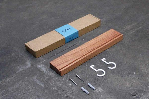 Figr1 Wooden Wall Shelf 30 Jatoba Packaging