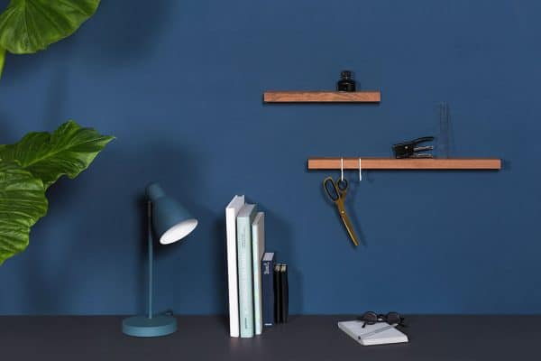 Figr1 Wooden Wall Shelfs Jatoba with hooks