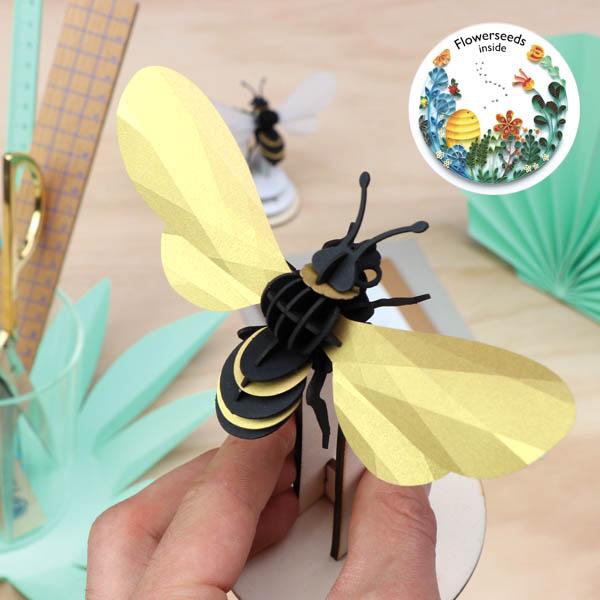 Assembli 3D Paper Insect Honey Bee