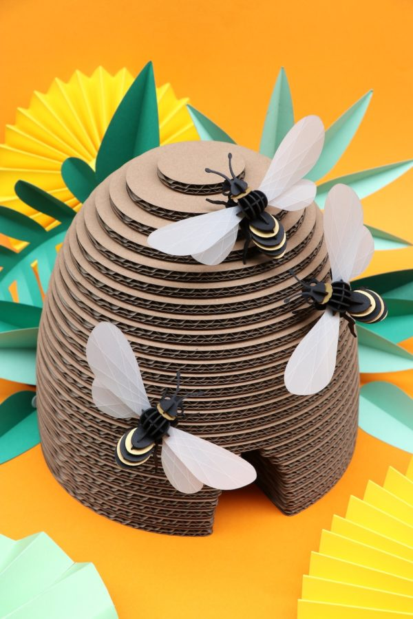 Assembli 3D Paper Insect Honey Bee Hive