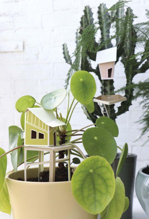 Assembli 3D Paper Tiny House Olive
