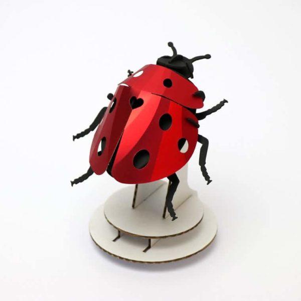 Assembli 3D paper insect Lady lovebug