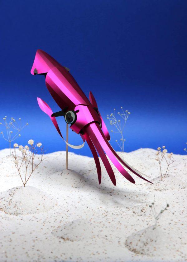 Assembli 3D Paper Squid Pink Metallic