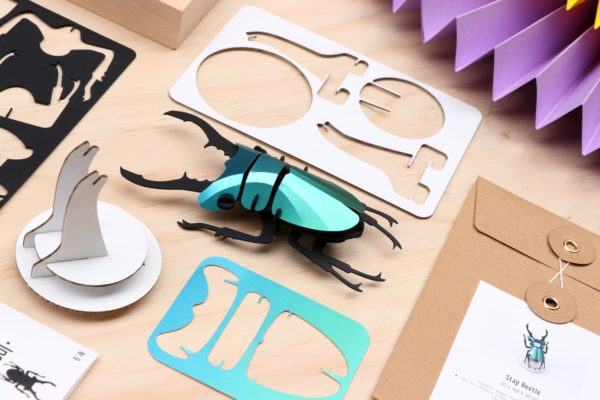 Assembli 3D Paper Insect Stag Beetle