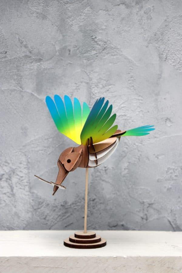 Assembli 3D Paper Bird Kingfisher