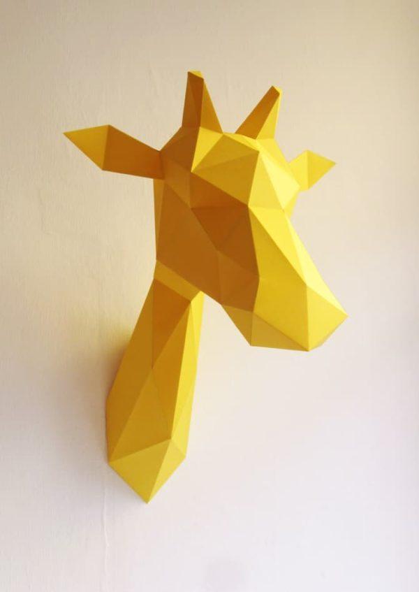 Assembli 3D Paper Giraffe Animal Head