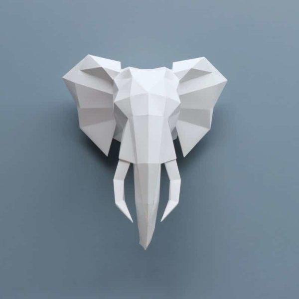 Assembli 3D Paper Animal Head Elephant