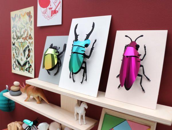 Assembli 3D Paper Insect Jewel Beetle